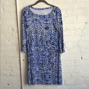 Lully Pulitzer Sophie Dress, Small, Bright Navy